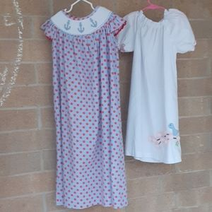 2 SOUTHERN TOTS 7 dresses smocked embroidery